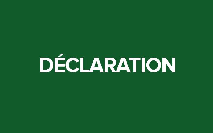 Déclaration solennelle commune