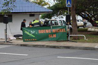 La section SLN du SOENC Nickel s'est mobilisée devant le gouvernement, à l'ordre du jour les exportations de minerais depuis Tiébaghi et Goro