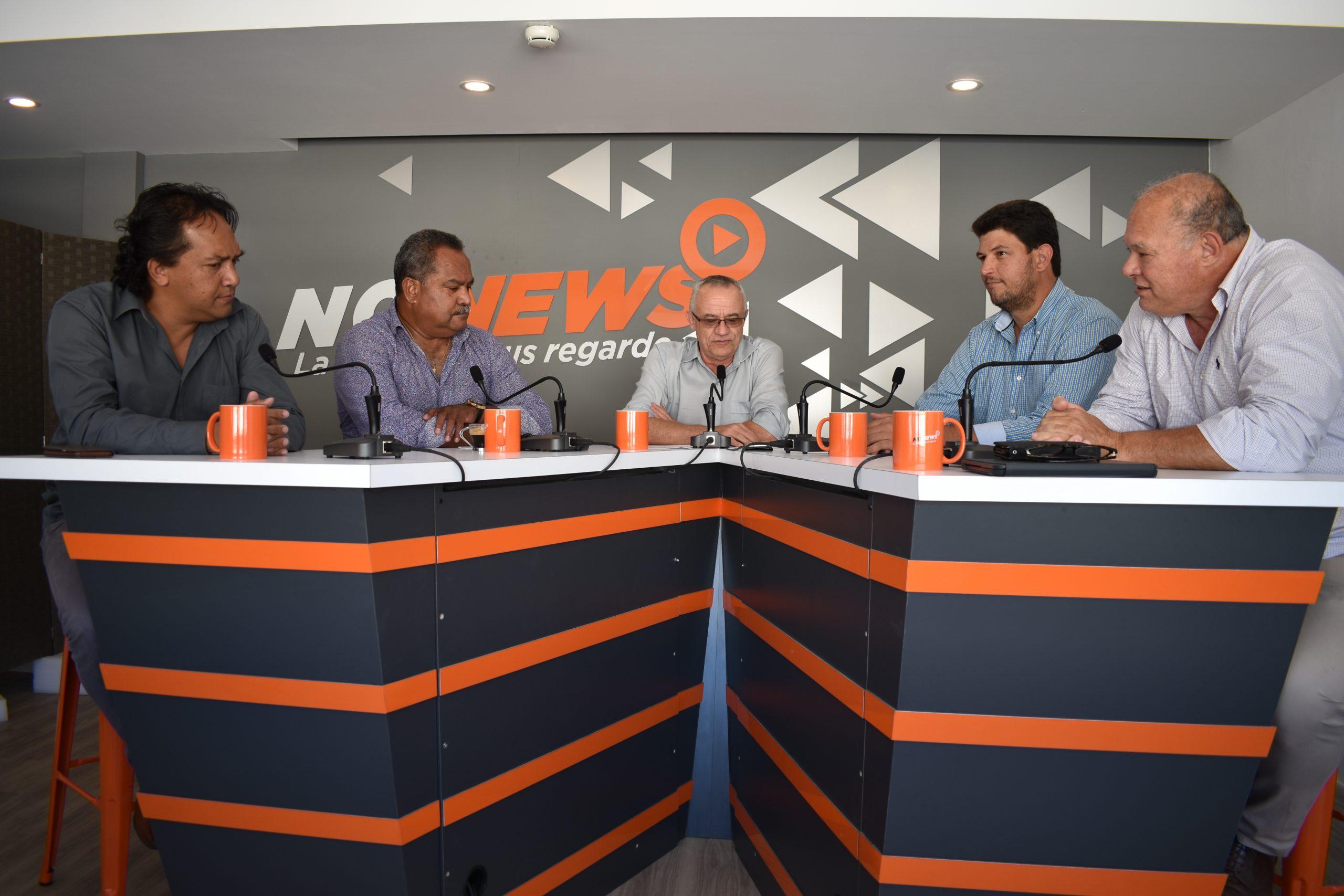 Pierre TUITEALA, secrétaire général du SOENC Nickel, concernant le sujet VALE Nouvelle-Calédonie sur le plateau de NC News, une nouvelle Web TV calédonienne.