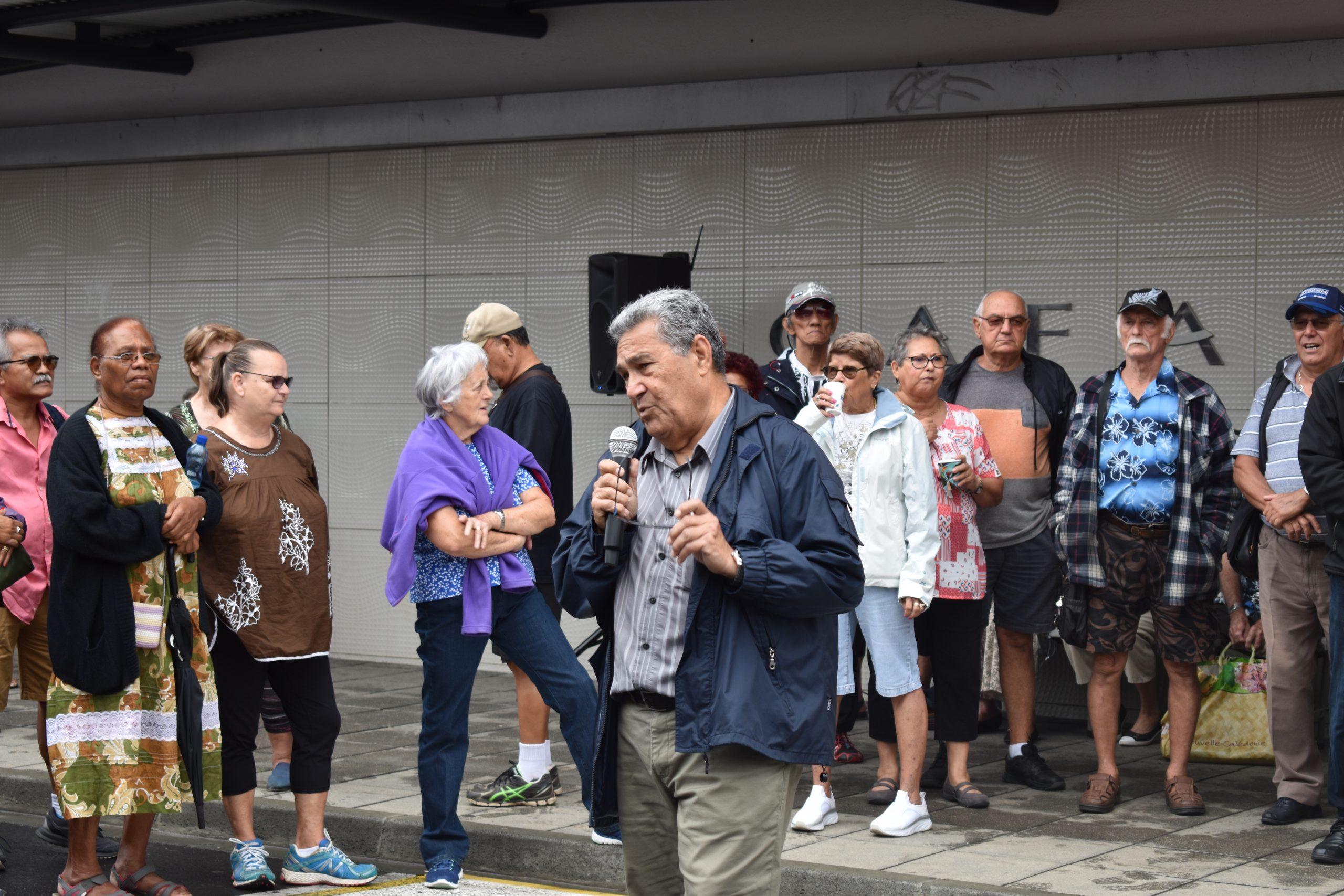 L'Intersyndicale des retraités de Nouvelle-Calédonie s'est mobilisée vendredi 16 octobre devant la CAFAT.