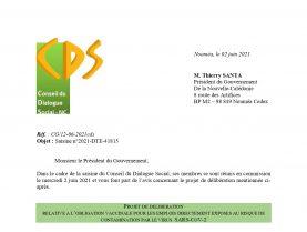 L'avis du Conseil du Dialogue Social (CDS) quant au projet de délibération relative à l'obligation vaccinale
