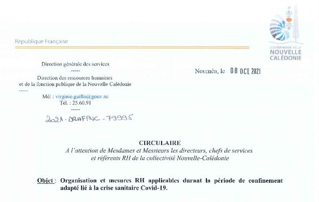 L'organisation et les mesures RH applicables durant la période de confinement adapté lié à la crise sanitaire Covid-19